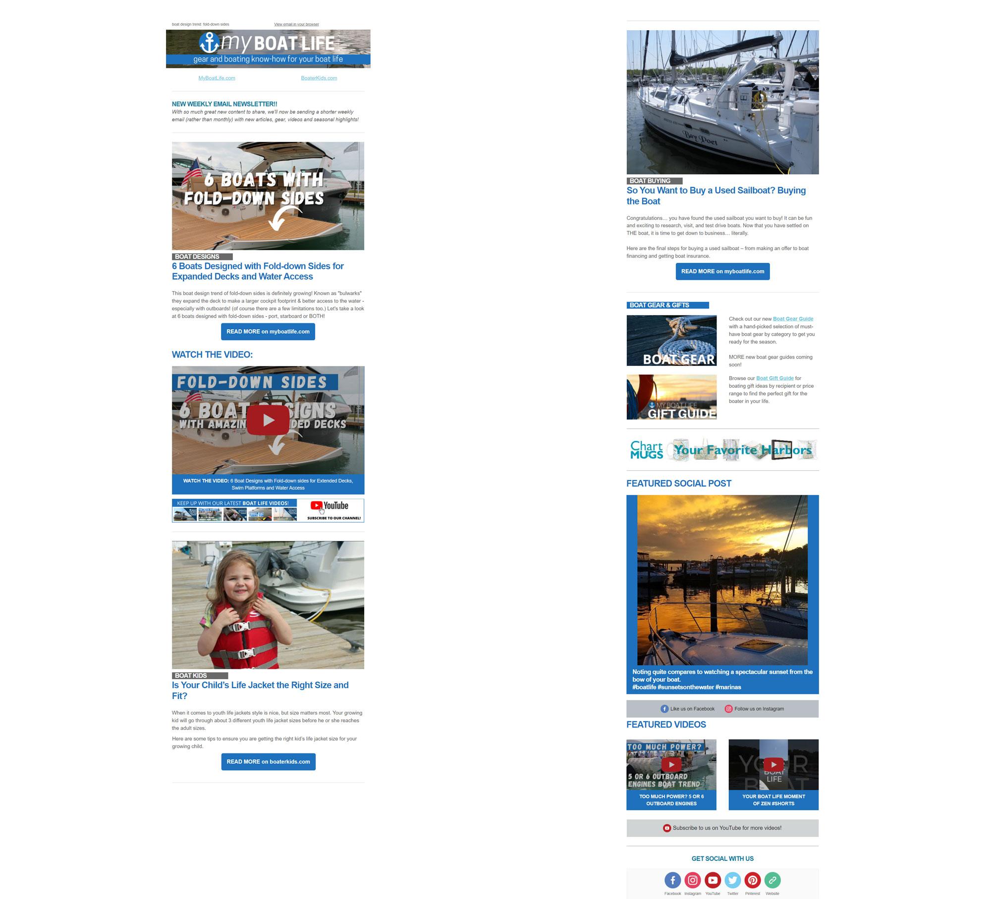 myboatlife email marketing
